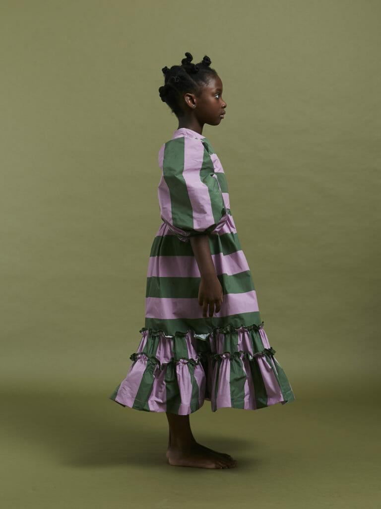 De middelste dochter had een sterk paars en groen kleurenpalet