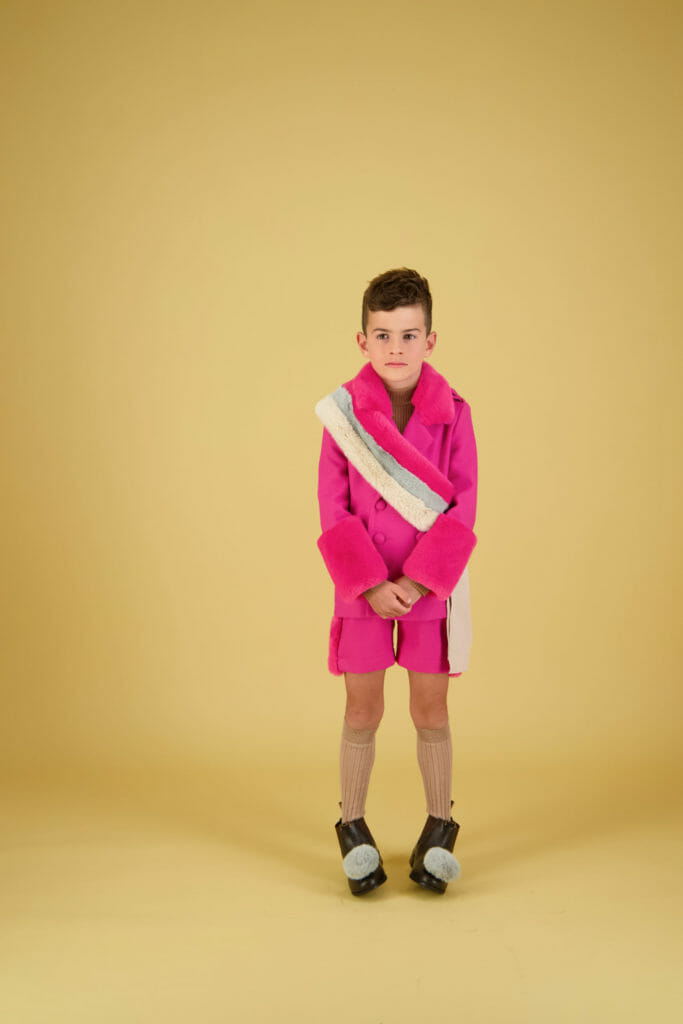 Amazing pink outfit from Carbon Soldier for winter 21 kids fashion