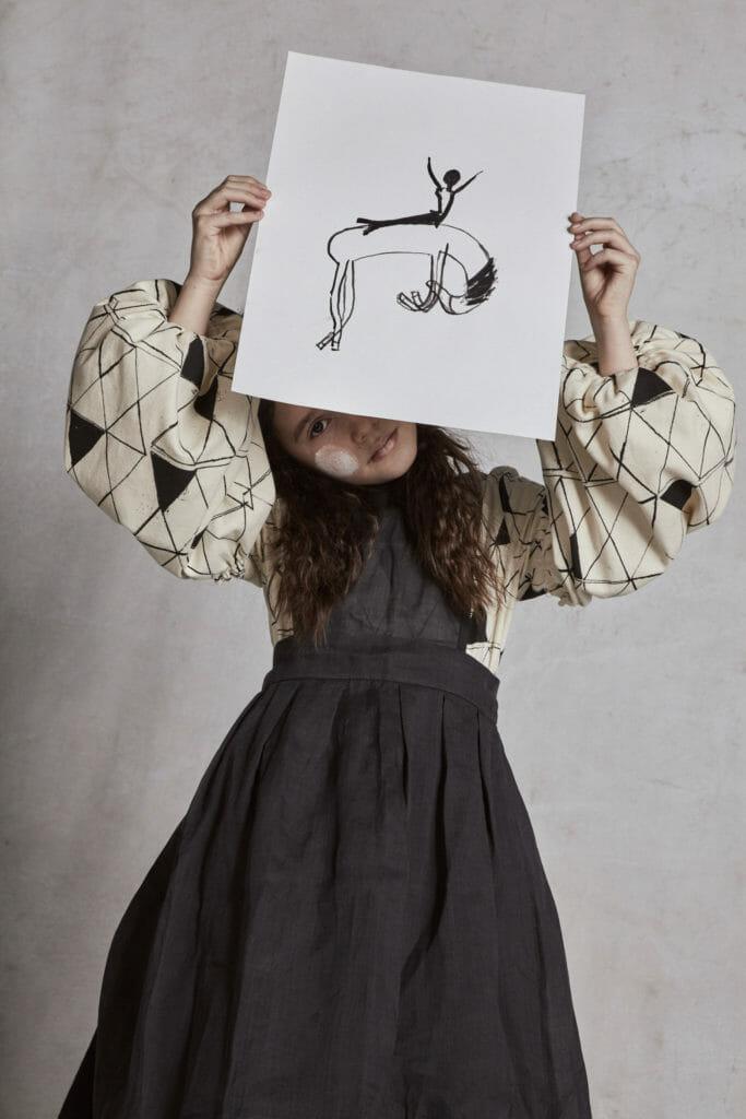 Artistic interpretation of the film 'La Strada' by Hilda.Henri