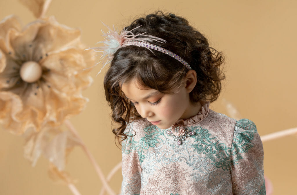 Kids trends from The Rendez-vous with beautiful brocades by Eirene for Occasion Day