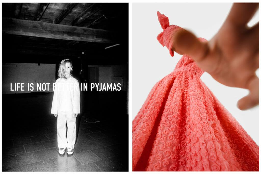 Beautiful rose dress from Caroline Bosmans for girls fashion summer 21