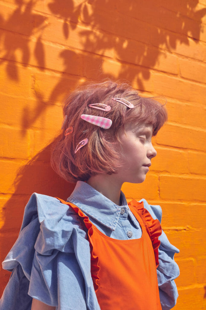 Gingham and denim, hot trends for summer 2021 kids fashion picked up by STYCH