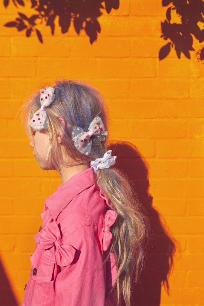 Delicate bows and scrunchies for hot summer days at Stych accessories