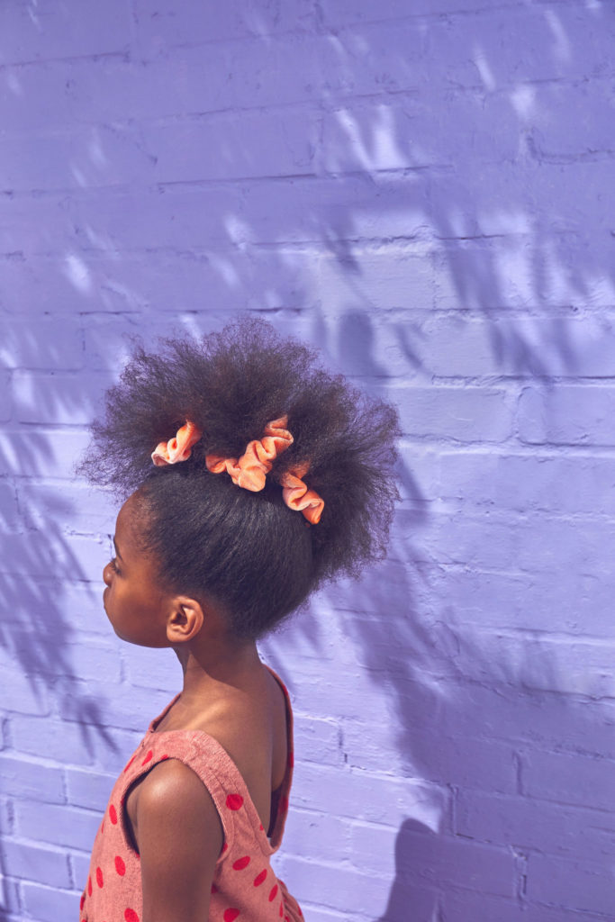 Vivid colour scrunchies at STYCH summer 2021 kids mini me line