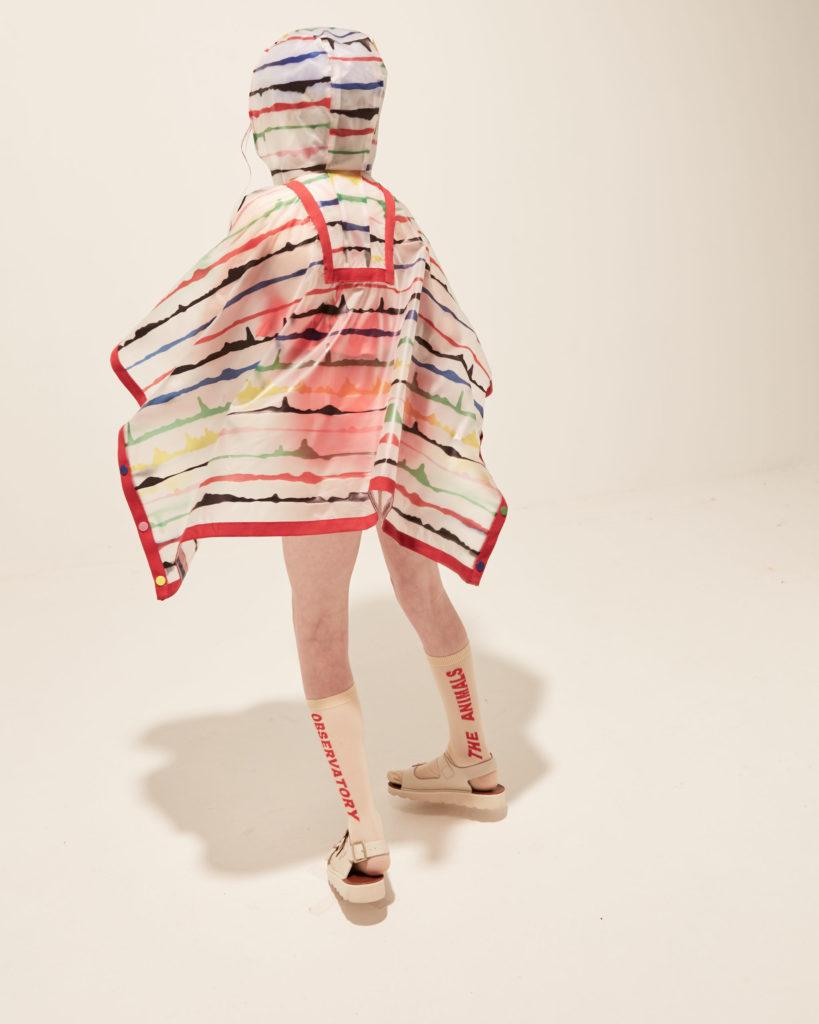 Fabulous rain poncho at Kidswear Collective circular fashion resale site