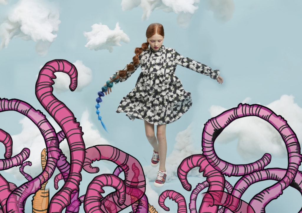 Inspired by a fantasy world of colour and pattern Roly Pony kids fashion for summer 2022