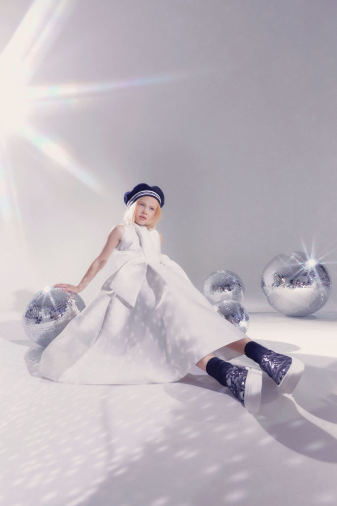 Winter white party clothes by Simonetta for fall 2021