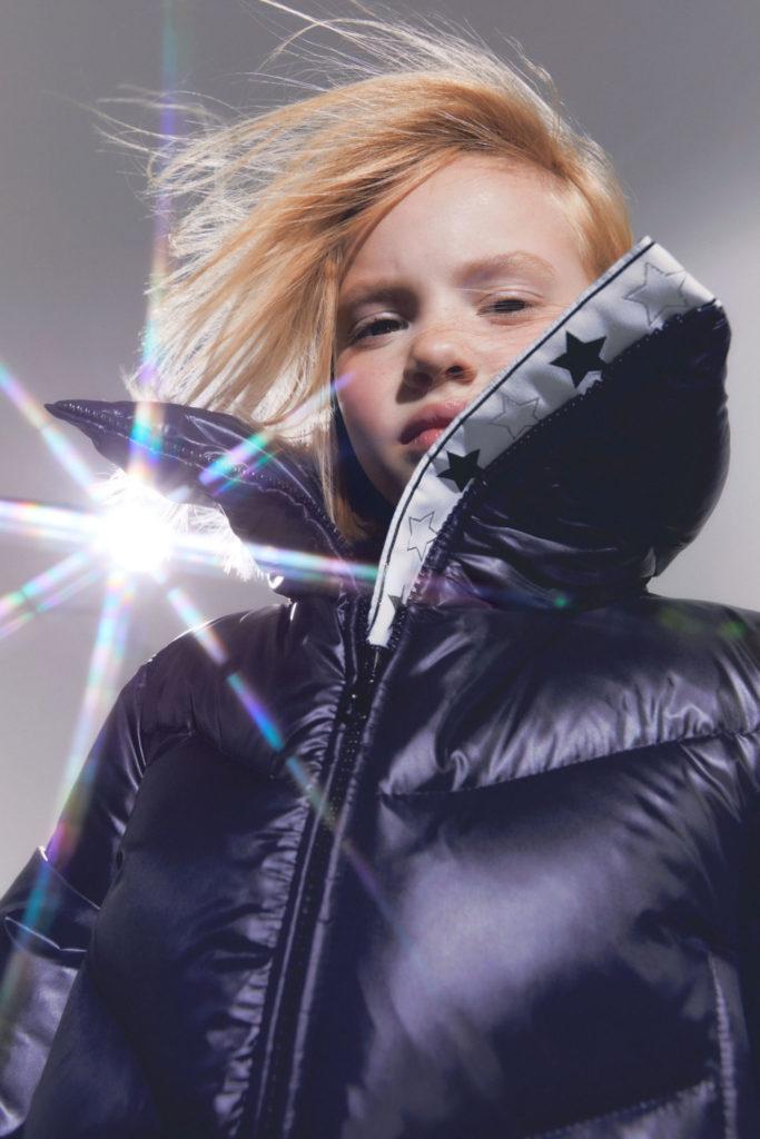 Futuristic padded jackets at Simonetta Italian kids fashion for fall 2021