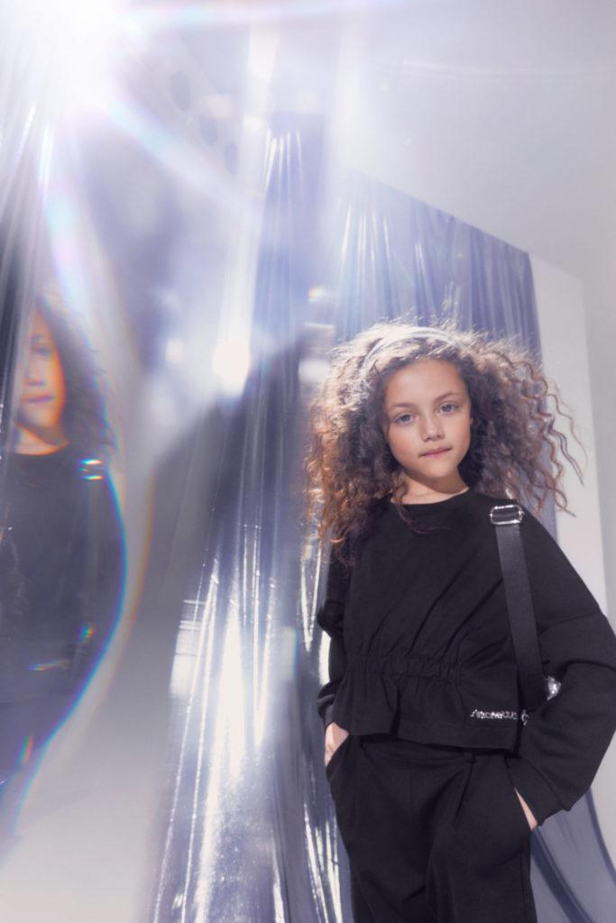 Simpler black day wear at Simonetta for winter 2021 kidswear